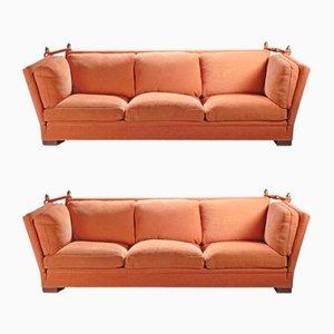 Große Sofas von Maison Jansen, 1970er, 2er Set