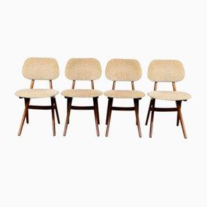 Teak Pelican Esszimmerstühle von Louis van Teeffelen für WéBé, 1960er, 4er Set