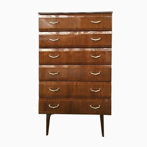 Teak High Gloss Tallboy from Meredew, 1960s