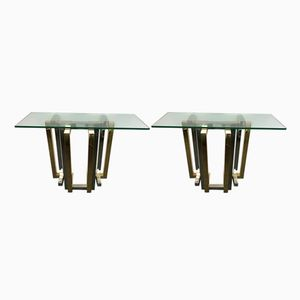 Belgian Console Tables from Belgo Chrom, 1980s, Set of 2