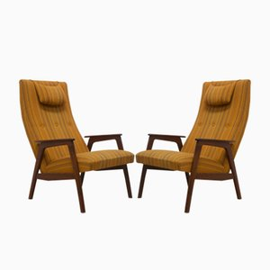 Mid-Century Danish Rosewood Lounge Chairs, 1950s, Set of 2
