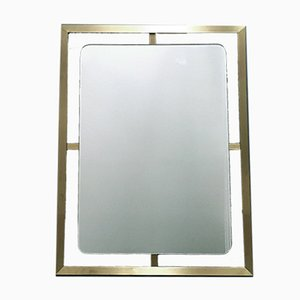 Modernist Brass Mirror, 1970s