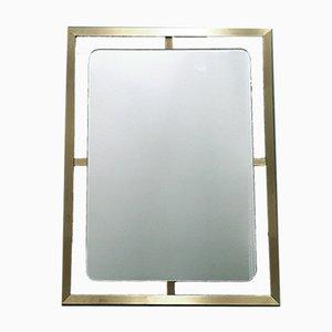 Specchio modernista in ottone, anni '70