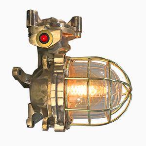 Flammsichere Japanische Bronze Lampe, 1980er