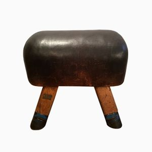 Vintage Leather Vaulting Horse, 1930s