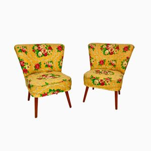 Floral Side Chairs, 1960s, Set of 2