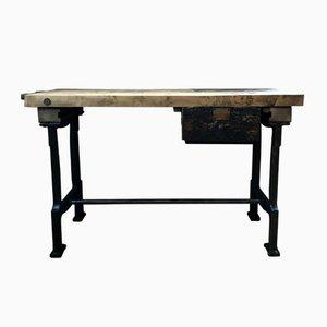 Vintage Industrial Workshop Workbench