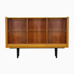 Danish Teak Highboard with Glass Case from Interform Collection
