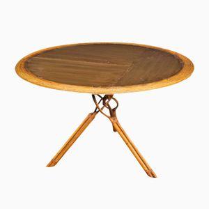 Vintage Spanish Bamboo Table from Kalma Ramon Castellano, 1970s