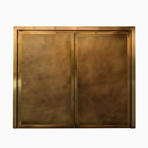 Hollywood Regency Brass & Bronze Cabinet from Belgo Chrom, 1980s