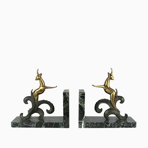 Hollywood Regency French Bronze Bookends, 1930s