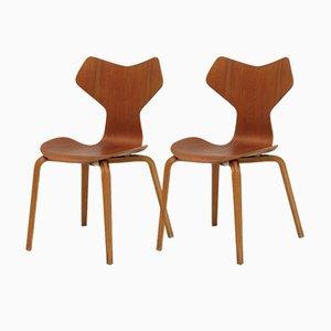 Grand Prix Stühle von Arne Jacobsen für Fritz Hansen, 2er Set