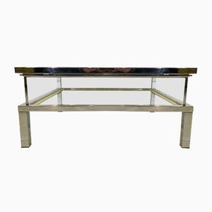 French Sliding Top Coffee Table from Maison Jansen, 1970s