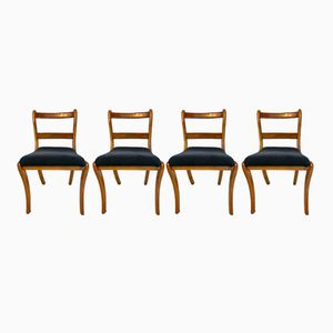 Biedermeier-Style Chairs, 1930s, Set of 4