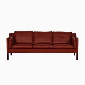 Rots 2213 Leder Sofa von Børge Mogensen für Fredericia, 1960er