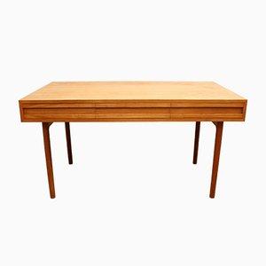 Vintage Swiss Oak Desk, 1960s