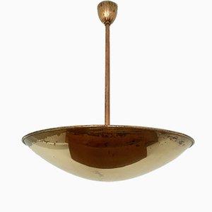 Italian Brass Ceiling Lamp, 1950s
