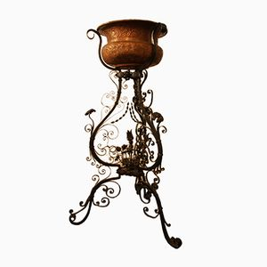 Copper and Iron Flower Stand