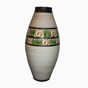Austrian Hand-Painted Vase from Keramos, 1950s