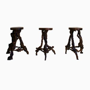 French Grape Vine Bar Stool Set, 1950s