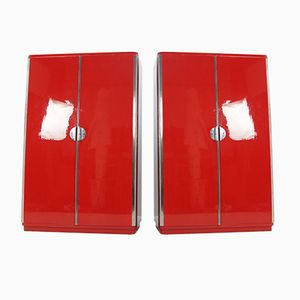 Chrome Bauhaus Wardrobes by Rudolf Vichr, 1930s, Set of 2