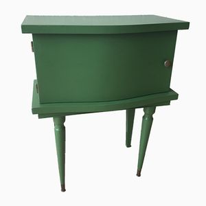Vintage French Green Bedside Tables, Set of 2
