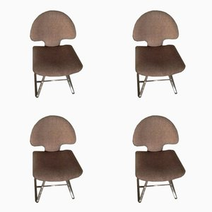 Longobard Chairs by Vittorio Introini for Saporiti, 1960s, Set of 4