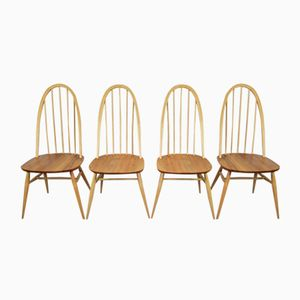 Vintage Quaker Chairs by Lucian Ercolani for Ercol, 1960s, Set of 4