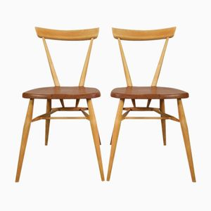 Vintage Stacking Chairs by Lucian Ercolani for Ercol, Set of 2