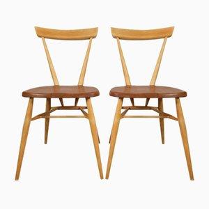 Vintage Stapelstühle Chairs von Lucian Ercolani für Ercol, 2er Set