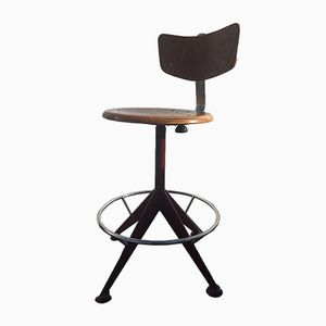 Vintage Italian Bar Stool by Jules Wabbes for Velca Legnano, 1970s