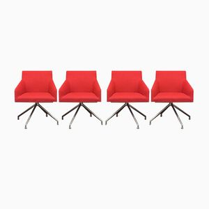 Swivel Chairs from Arper, 1980s, Set of 4