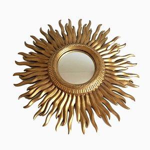 Vitage Art Deco Konvex Spiegel in Sonnen Optik