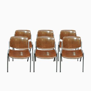 Stacking Chairs by Giancarlo Piretti & Enrico Castellani for Castelli, 1960s, Set of 2