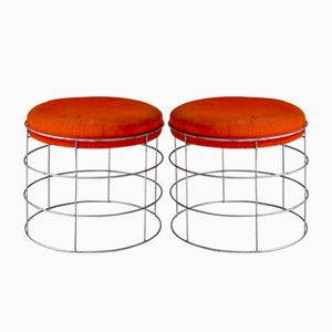 Wire Stools, 1960s, Set of 2