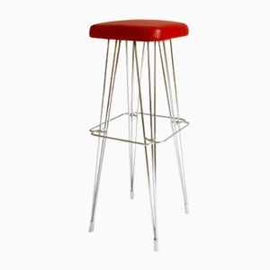 Mid-Century French Hairpin Bar Stool