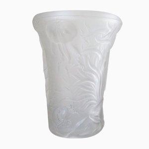 Czech Glass Marine Life Vase by Josef Inwald for Barolac, 1960s