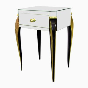 Art Deco Mirrored Side Table, 1930s