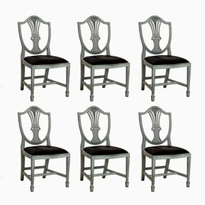 Antique Horsehair Dining Chairs, Set of 6