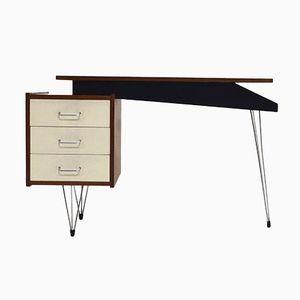 Teak Veneer Hairpin Desk by Cees Braakman for Pastoe, 1950s