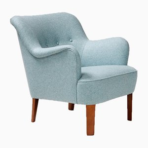 Danish Club Chair by Peter Hvidt & Orla Molgaard-Nielsen for Fritz Hansen, 1940s