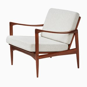 Model 806 Teak Candidate Lounge Chair by Ib Kofod-Larsen for OPE, 1950s
