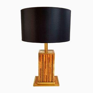 Italienische Tischlampe aus Korken & Messing, 1970er