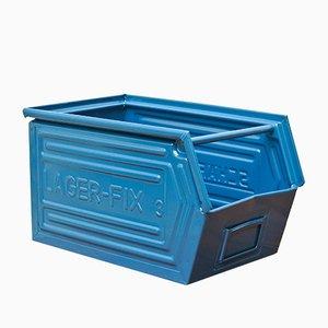 Vintage Blue Filing Box from Schäfer, 1960s