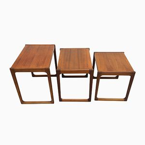 Nesting Tables in Walnut, 1960s