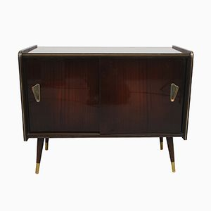 Rockabilly Style Wood Veneered Cabinet, 1950s