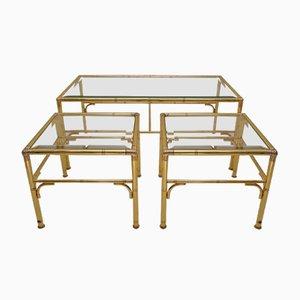 Gilded Nesting Tables from Chelsom, 1980s