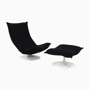 Model 984 Easy Chair & Ottoman Set by Geoffrey Harcourt for Artifort, 1970s