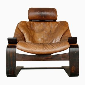 Mid-Century Swedish Kroken Lounge Chair by Ake Fribytter for Nelo Möbel, 1970s