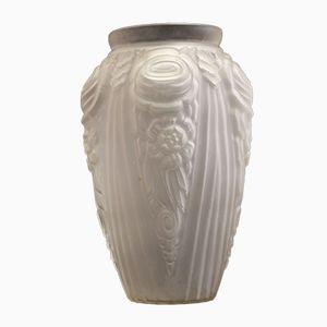 Große Französische Art Déco Vase, 1930er